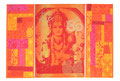 Patch-Bild Lord Vishnu orange