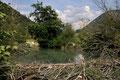 Barage de Castor - vue de l'aval - La Charce (26) - 11/07/2011