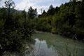 Barage de Castor - vue de l'amont - La Charce (26) - 11/07/2011