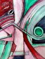 La Elocuencia del Camaleón, mixta sobre papel, 39 x 29 cms, 09, Sold/VENDIDA