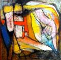 Ráfaga de Claridad - Mixta sobre tela 50 x 50 cm  /En Arte Actual Gallery On Line