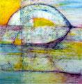 Brumoso - Mixta sobre papel 28 x 28 cm, 12