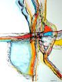 Entroncamiento - Mixta sobre papel 39 x 30 cm, 12