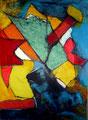 Libertad de Expresión - Mixta sobre foam 70 x 50 cm