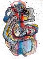 Mantra Atomizado, mixta sobre papel, 30 x 23 cms, marvilla/14
