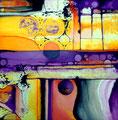 Nocturno entre Ovulos y Visillos - Mixta sobre tela 60 x 60 cm VENDIDO