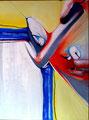Pausa Para Creer - Mixta sobre lienzo 130 x 97 cm