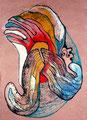 Mantra Bufo, mixta sobre papel, 22 x 16 cms, marvilla/14