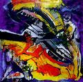 Jonas y la Ballena, mixta sobre cartón, 29 x 29 cms, 09