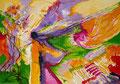 Despéiname, Viento de Primavera!, acrílico sobre papel, 32 x 23 cms, 08 VENDIDA