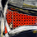 Calados Abismales1, mixta sobre papel, 30 x 30 cms, 10