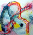 Momento Fugaz - Mixta sobre papel 28 x 28 cm, 12