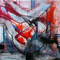 Ciudad y Smog, mixta sobre cartón, 29 x 29 cms, 09