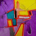 Escaleras Ruinosas - Acrílico sobre tela 60 x 60 cm