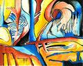 Visiones Bucólicas1, acrílico sobre papel, 27 x 21 cms, 08