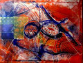 Amantes Infinitos - Mixta sobre lienzo 116 x 89 cm