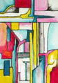 Retazos de una Metamorfosis3, acrílico sobre papel, 32, 5 x 23 cms, 07