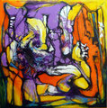 Señor de Valhalla - Mixta sobre tabla 60 x 60 cm