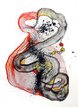 Mantra Atomizado, mixta sobre papel, 40 x 29 cms, marvilla/14