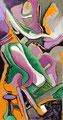 Figura Sentada, acrílico sobre cartón, 41 x 21 cms, 09 VENDIDA