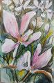 Frühling II; Mischtechnik, 10 x 15 cm