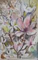 Magnolien; Mischtechnik, 10 x 15 cm