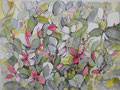 Blütenteppich: Aquarell, Feder; 30 x 40 cm