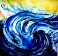 Tanz auf der Welle: Öl, 50 x 50 cm