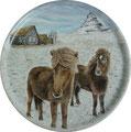 2017.PAMC 17th Exhibition アイスランドで出会った毛の長いお馬さん、ターフ、印象的だった山をコラージュ