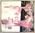 Titel: Three Crosses on Pink M.P.`S; Technik: Mischtechnik; Datum: 1984; Format (HxB): 136 x 146 cm