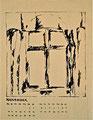 Titel: Kalenderblatt November; Technik: Siebdruck; Datum:1979; Format (HxB): 63 x 49 cm