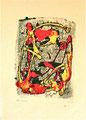 Ohne Titel; Technik: Kontaktdruck Tempera auf Papier; Datum: November 1996; Format (HxB): 60 x 40 cm