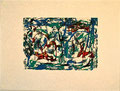 Ohne Titel; Technik: Kontaktdruck Tempera auf Papier; Datum: November 1996; Format (HxB): 60 x 80 cm