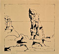 Titel: Sosopol; Technik: Siebdruck; Datum:1979; Format (HxB): 45 x 49 cm