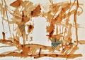 "Titel: ""…"" (nicht lesbar); Technik: Nescafé; Datum: Januar 1982; Format (HxB): 29,5 x 41 cm"