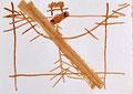 Ohne Titel; Technik: Nescafé; Datum: ohne Datum; Format (HxB): 29,5 x 41 cm