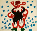 Russin im Schnee; Datum: 1984; Format (HxB): 30 x 35 cm