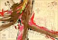 Ohne Titel; Technik: Tempera auf Papier; Datum: Februar 1986; Format (HxB): 70 x 100 cm