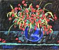 Ohne Titel; Technik: Mischtechnik auf Leinwand; Datum: März 1996; Format (HxB): 120 x 140 cm