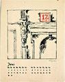 Titel: Kalenderblatt Juni; Technik: Siebdruck; Datum:1979; Format (HxB): 62 x 49 cm