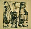 Titel: Marzahner Vision; Technik: Siebdruck; Datum:1980; Format (HxB): 46 x 49 cm