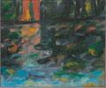 Titel: Bofors; Technik: Öl auf Leinwand; Datum: August 1988; Format: 25 x 30 cm (in Privatbesitz)