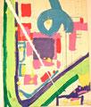 Ohne Titel; Technik: Tempera auf Papier; Datum: Februar 1986; Format (HxB): 60 x 65 cm