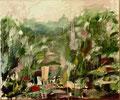 Jardin Des Tuileries; Technik: Mischtechnik; Datum: August 1982; Format (HxB): 50 x 60 cm (in Privatbesitz)
