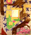 Ohne Titel; Technik: Tempera auf Papier; Datum: Februar 1986; Format (HxB): 75 x 65 cm