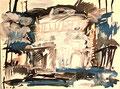 Ohne Titel; Technik: Tempera auf Papier; Format (HxB): 36 x 48 cm