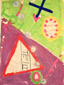Ohne Titel; Technik: Tempera auf Papier; Datum: Februar 1986; Format (HxB): 86 x 63 cm