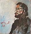 Porträt Knut; Technik: Mischtechnik; Datum: September 1978; Format (HxB): 68 x 62 cm