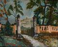 Titel: Oktobersonntag im Schloßpark Heidecksburg; Technik Öl auf Hartpappe; Datum: 1977; Format (HxB): 75 x 94 cm (in Privatbesitz)