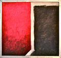 Titel: Relation; Technik: Mischtechnik; Datum: April 1984; Format (HxB): 106 x 110 cm